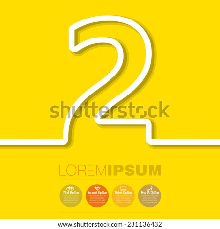 Paper strip numbers vector template. - stock vector
