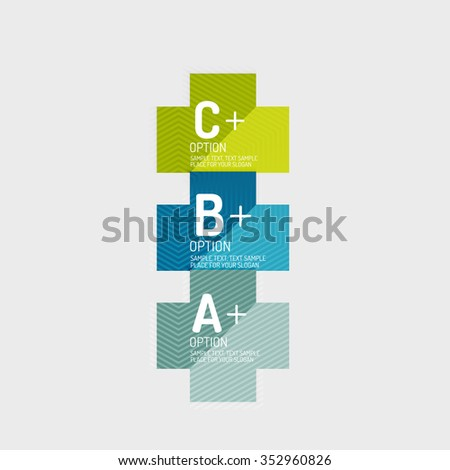 Paper style abstract geometric shapes with infographic options. Abstract universal design template. Vector illustration - stock vector