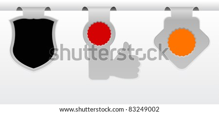 paper tags design - stock vector