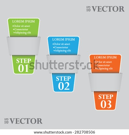 Paper tags, vector - stock vector