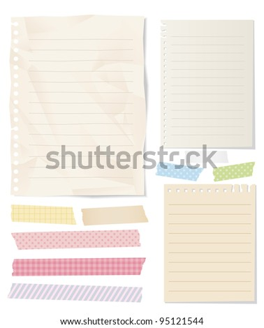 Paper tape Collection - stock vector