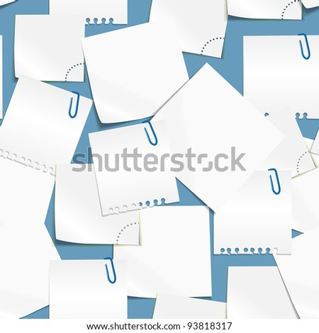 Paper text bubbles seamless background - stock vector