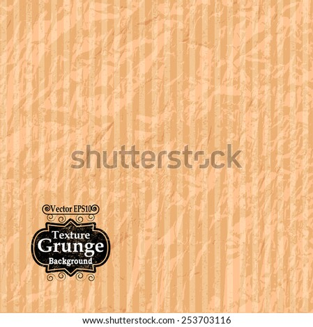 Paper Texture . Crumpled Paper Background . Creased Paper Background Texture . Striped Background . Vector Illustration . - stock vector