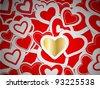 Paper Valentine heart background eps10 - stock vector