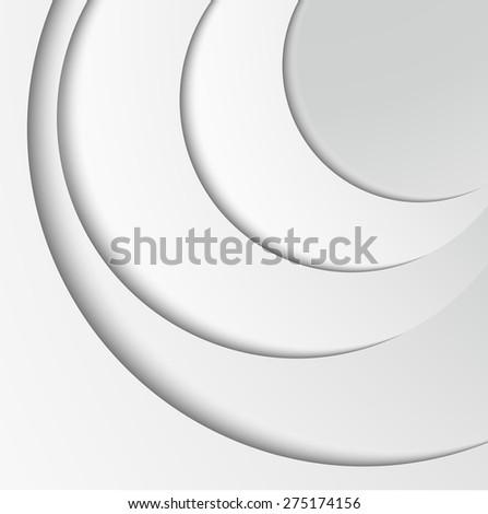 paper vector background curve line overlap layer  modern artwork for website design White  - stock vector