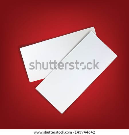 paper white red background blank page write message isolated empty piece note