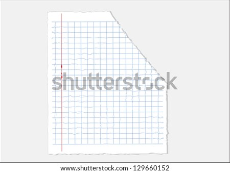 papers Tear ready for your message. Vector illustration. - stock vector