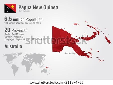 Papua new guinea world map pixel stock vector hd royalty free papua new guinea world map with a pixel diamond texture world geography gumiabroncs Choice Image