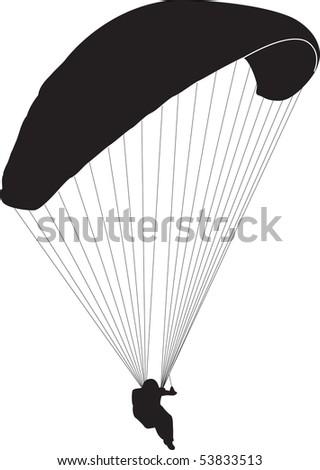 parachute - stock vector