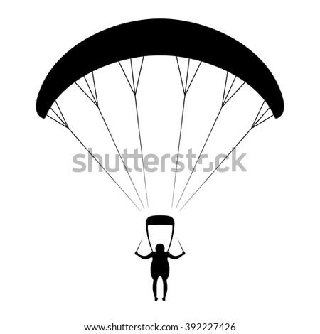Paraglider - stock vector