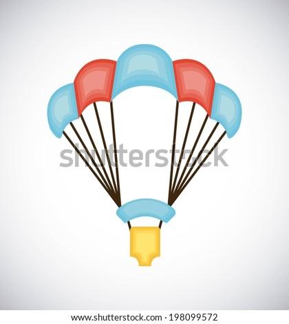 Paragliding design over gray background, vector illustration - stock vector