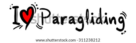 Paragliding love - stock vector