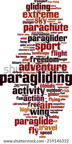 Paragliding word cloud concept. Vector illustration - stock vector