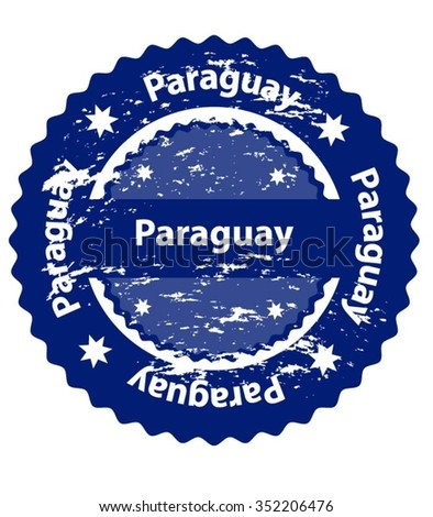 Paraguay Country Grunge Stamp - stock vector