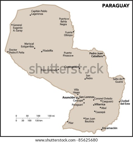 Paraguay Country Map