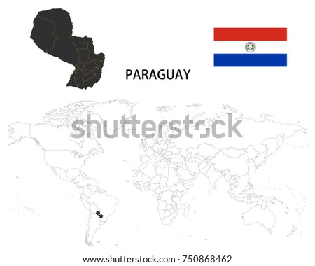 Map Of Paraguay Stock Images RoyaltyFree Images Vectors - Map of paraguay world