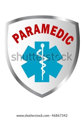 Paramedic shield sign - stock vector