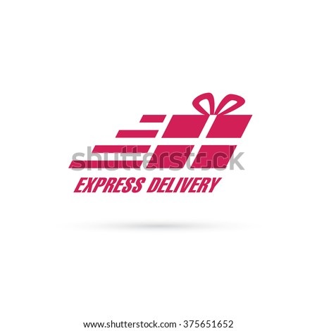 parcel express delivery sign - stock vector