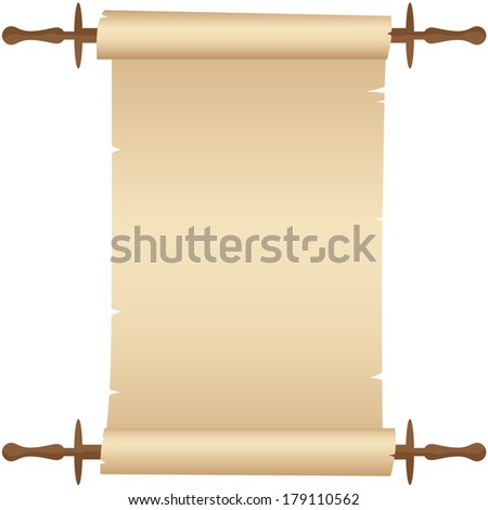 Parchment scroll. Vector