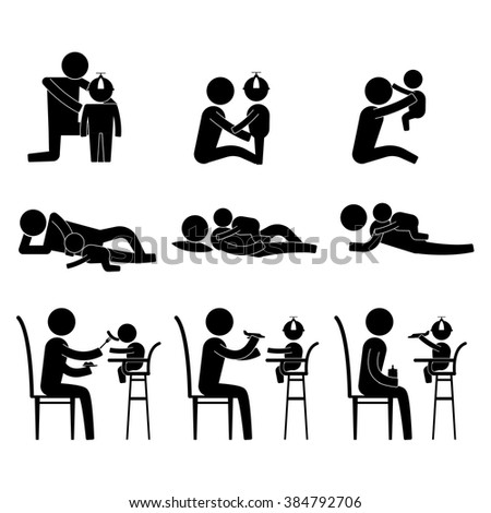 parenting parent spend some bonding time with kids icon sign symbol vector pictogram