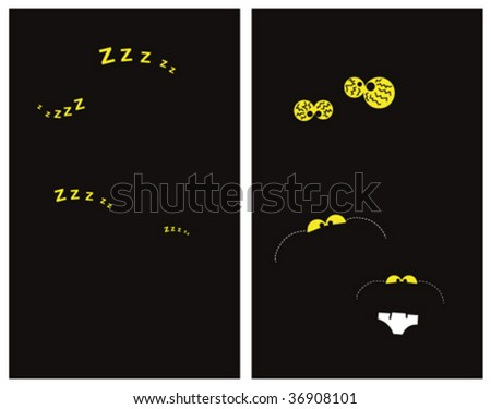 parents and babies perfect night - stock vector