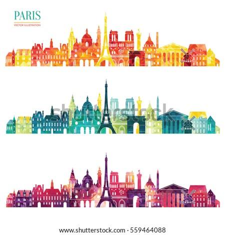Paris Detailed Skyline Vector Illustration Stock 559464088