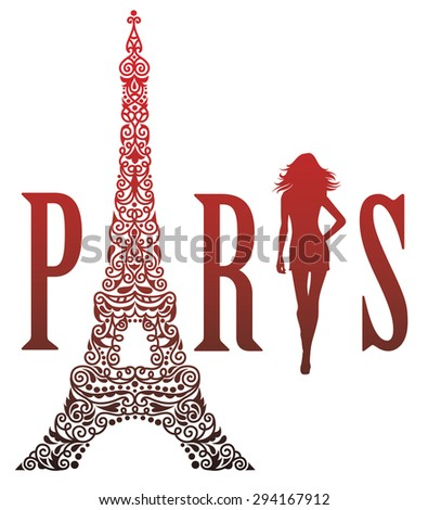 Paris is the capital of fashion.  - stock vector
