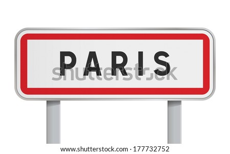 Paris road sign - stock vector
