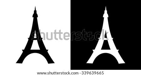 Paris City Light Set Eiffel Tower Stock Photo Vector