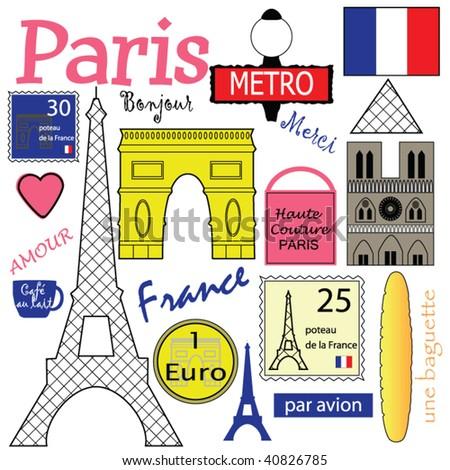 Paris Vector Collection - stock vector