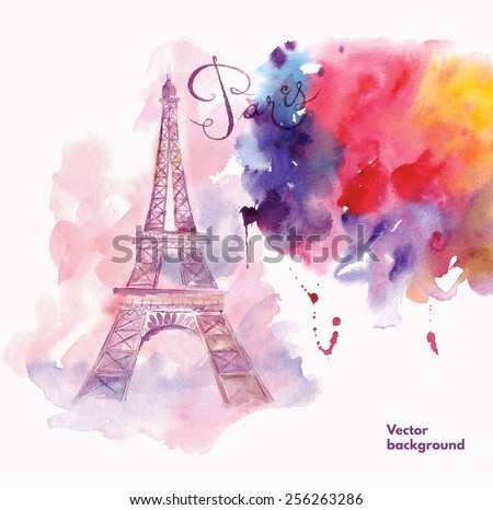 Paris. Vector illustration - stock vector