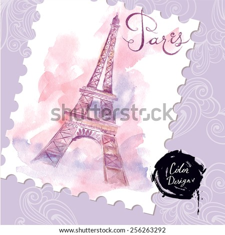 Paris. Vector illustration. - stock vector