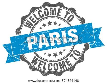 Paris Welcome To Stamp