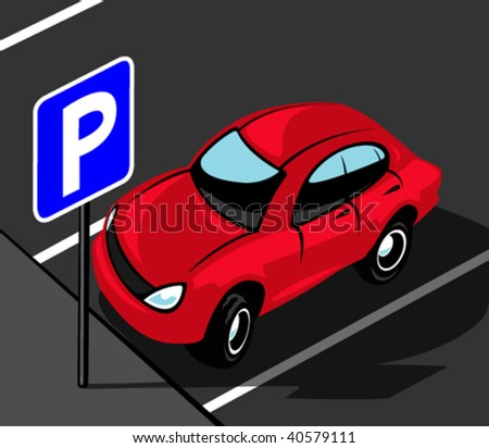 Parking area - stock vector