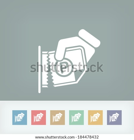 Parking ticket - stock vector