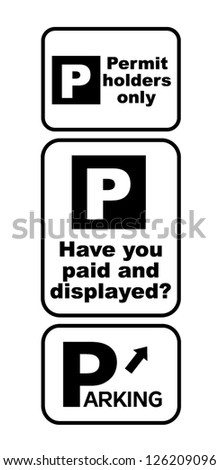 parking traffic sign vector illustration
