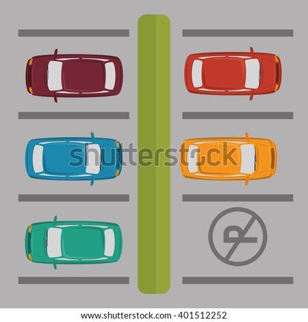 parking zone design  - stock vector