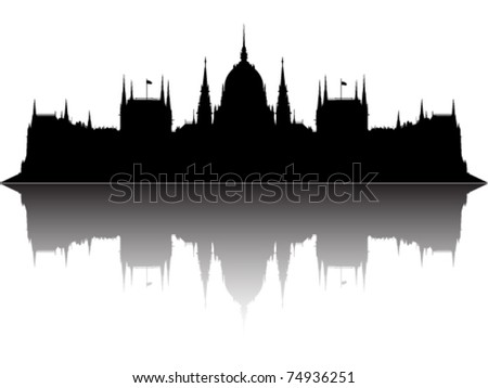 Parliament of Hungary - stock vector