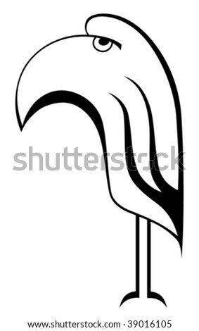 parrot isolated in a white background - stock vector