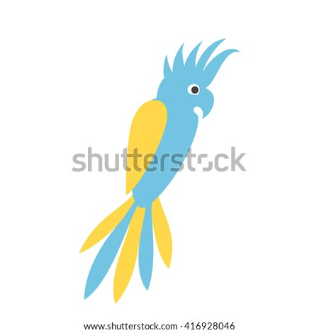 Parrot logo. Parrot flat icon. Cockatoo isolated icon,  silhouette. Cockatoo parrot sign vector illustration. Cockatoo parrot icon. Parrot logo Icon design - stock vector