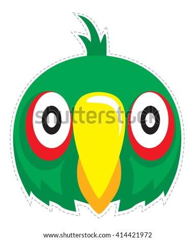 parrot mask  for children's masquerade - stock vector