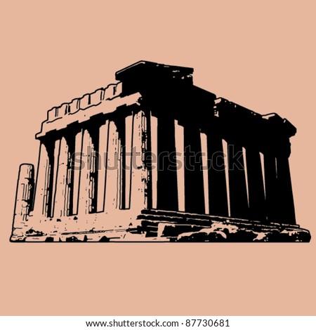 Parthenon - stock vector