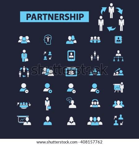 partnership icons  - stock vector