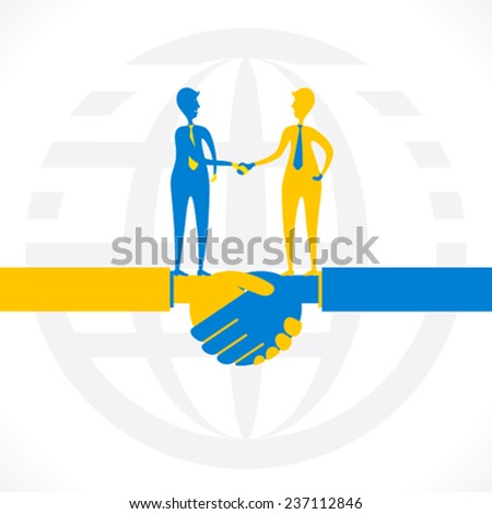 partnership or business relation , hand shake concept design vector - stock vector