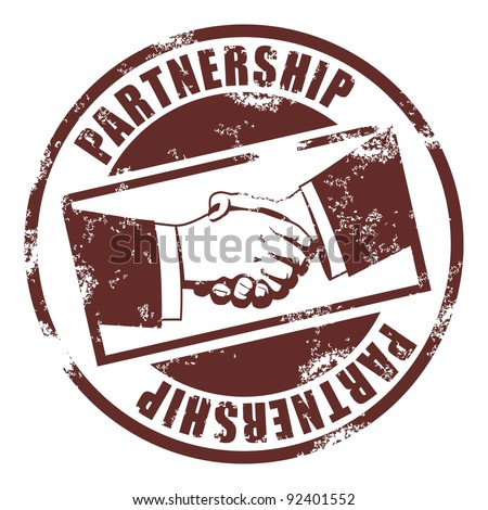 Partnership stamp - stock vector