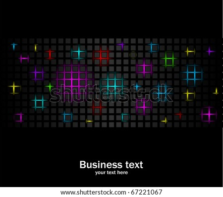 Party abstract background. Black business backdrop with color gradients. - stock vector