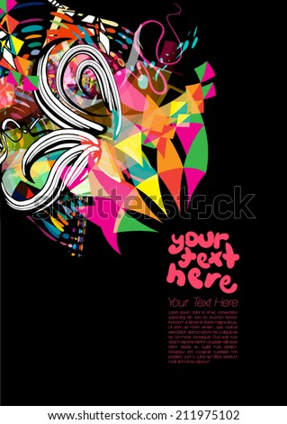 Party Background for Text - stock vector
