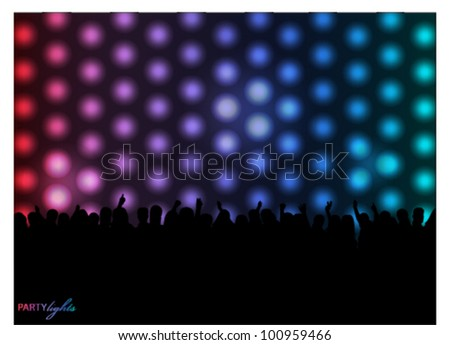 Party Background - Silhouettes & Lights