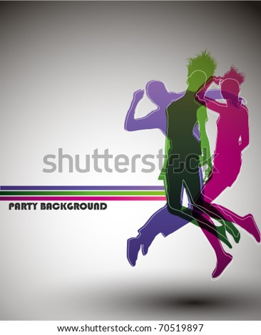 Party Background, vector illustration. - stock vector