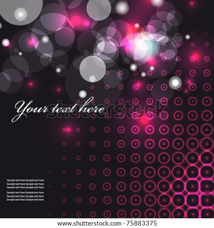 Party background with light. EPS10 vector illustration. - stock vector